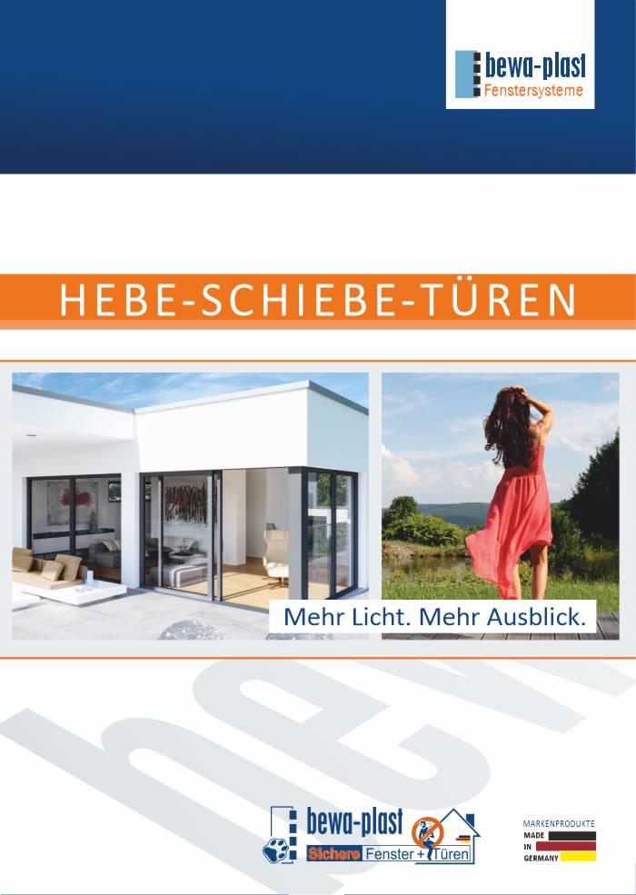 Prospekt Hebe-Schiebe-Tür